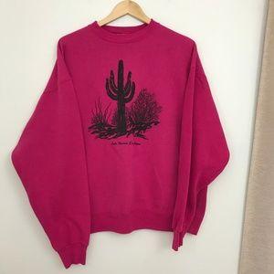 Vintage Arizona Pink Crewneck Sweatshirt